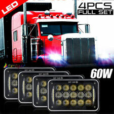 "4PCS 60W 4x6"" Led DRL Headlight for Kenworth Peterbilt Chevrolet Freightliner"