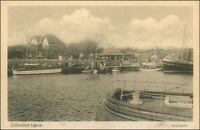 Ansichtskarte Laboe Hafen, Kiosk - Häuser 1924