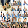 Summer Ladies Espadrille Flat Sandals Ankle Strap Lace Up Casual Shoes Size 6-10