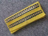 Handmade bottletop yellow silver clutch bespoke Upcycle Crochet gift handbag bag