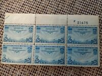1935 AIRMAIL 25 CENT TRANS-PACIFIC STAMP SET of 6