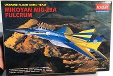 Academy Mikoyan MIG-29 Fulcrum Ukraine Flight Demo Team 1/48 NIB Model Kit