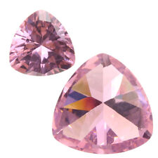 10.32ct Unheated Pink Sapphire 12mm Trillion Cut AAAA+ Color Loose Gemstone