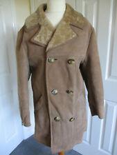 Fabulous Hepworths 'nut' lambskin unisex double breasted sheepskin coat - Size M