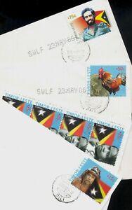 Timor Leste. 2006 complete set of 4. three postal use envelopes