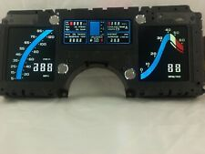 1984 Corvette Cluster; Blue Color/LED Upgrade, New Power Supply, New LCDs