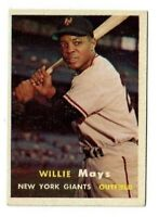 1957 Topps Set Break/Build #10 Willie Mays (BV=$400) Giants EXMT Strong Card!