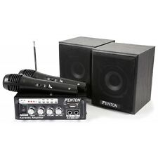 KIT KARAOKE MIXEUR AMPLIFICATEUR AVEC ENCEINTES ET 2 MICROS MP3/USB/SD/BLUETOOTH