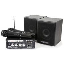 SATZ KARAOKE MISCHER VERSTÄRKER MIT LAUTSPRECHER UND 2 MIKROFONE MP3/USB/SD/