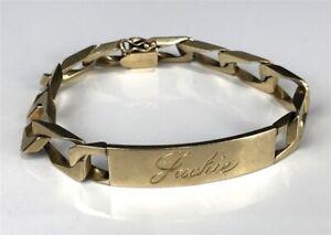 Elvis Presley owned and gifted (to Jackie Kahane) 14k gold bracelet