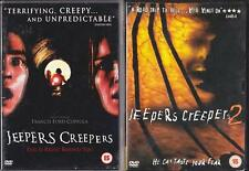 JEEPERS CREEPERS 1 & 2 [One,Two] Classic Teen Slasher Occult Horror DVD *EXC*