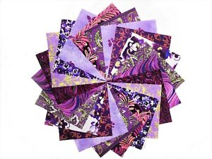 10 10 inch Purple Orchard charm pack by Benartex/ QT Fabric/10 colorways
