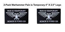 "Warhammer 40K (2-Pack) Ultramarines 4"" X 2.5"" Iron/Sew-on Patch Space Marines"