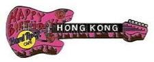 Hard Rock Cafe HONG KONG 2001 HAPPY BIRTHDAY Pink Cake Guitar PIN - HRC #3041