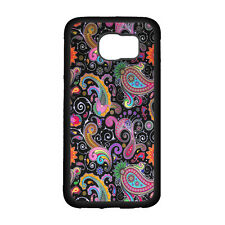 For Samsung Galaxy Note 5 Colorful Paisley Skin Phone Case Black