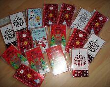 Gutscheine Klappkarten rote Kugeln 10 Geschenkgutscheine Weihnachten-800