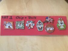 Disney Chip and Dale  LOT #2.  Set of 8  Pins.  See Photos.