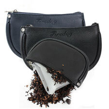 Real Leather Cigarette Smoking Pipe Tobacco Pouch Case Bag to Preserve Freshness