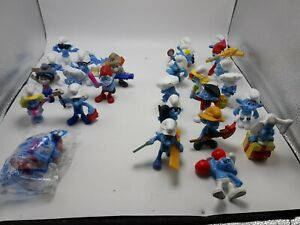 McDonald's Mixed Lot Of 27 Smurfs PVC Cartoon Figures 2011-2013 PEYO
