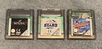 Nintendo Game Boy Colour Bundle x3 Games WWF Betrayal, FA Premier League STARS