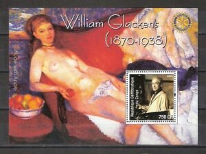 William Glackens Paintings Sheet MNH