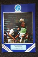 1990/91 QPR v COVENTRY CITY Division 1 match programme 16.3.1991