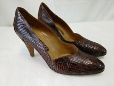 scarpe donna vera pelle rettile  pierre garden lucertola misura 39