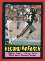 1985 Topps #6 Walter Payton Record Breaker EX-EXMINT Chicago Bears FREE SHIPPING