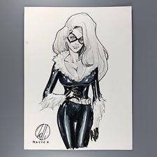 "Black Cat 9x12"" MATTEO LOLLI Original Art Commission Sketch"