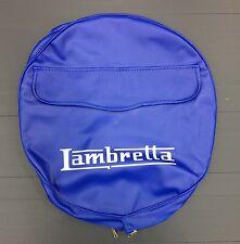 Rueda De Repuesto Cubierta LAMBRETTA Logotipo Azul/Blanco Para Vespa & LML
