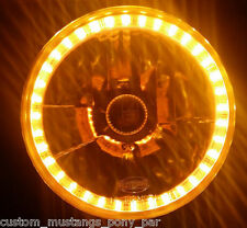 AMBER Halo H4 Headlight Angel Eye Toyota Landcruiser 40 47 55 60 70 73 75 Series