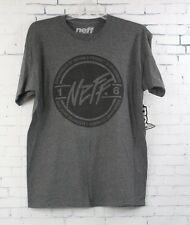 New Neff Mens Daily Rounder Short Sleeve T-Shirt Large Charcoal Heather