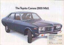 Toyota Corona Mark II 2000 Saloon Estate 1975 original UK Sales Brochure