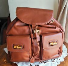 Gucci Bamboo Tasel Cognac Leather Backpack Medium size in a perfect condition
