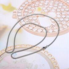 5 Collier Chaîne Croix Homard Acier inoxydable Accessoire Pr Bijoux 45cmx2mm