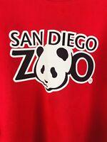 Vintage Hanes San Diego Zoo Panda Sweatshirt Red 50/50 Adult XL