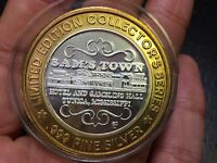 .999 Fine Silver Gaming Token Limited Edition Collectors Series Sam's Town