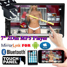 Bluetooth Player Stereo Radio Car 7'' 2 DIN MP5 Touch Screen Mirror Link For GPS