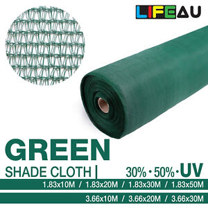 LiFEAU 30% 50% GREEN UV Shade Cloth Shadecloth Sail Garden Mesh Roll Outdoor