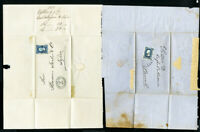 Mexico Cover 2x Early w/ Stamps Clean 1875 Covers