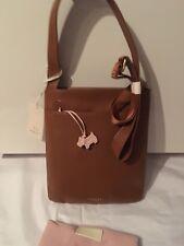 BNWT Radley Tan Leather Cross Body pocket bag rrp £99.Radley Factory Packed