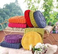 Plaid Chair Pad Cushion Thicker Cotton Seat Home Decor Floor Mat Washable NEW