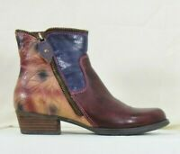 L'artiste by Spring Step womens erminia bordeaux zip up boots size US 5 UK 35