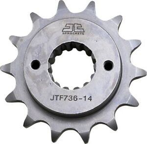 Front Steel Countershaft Sprocket - 14 Tooth 520 JT Sprockets JTF736.14