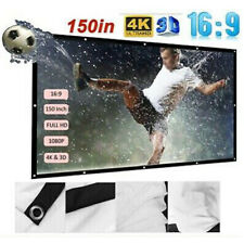 150''16:9 HD 3D Movie Portable Projector Screen Outdoor Home Cinema Theater HD