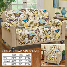 Quilted Butterflies Furniture Cover Protector for Loveseat