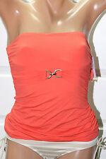 NEW Michael Kors Hot Coral Underwire Swimwear Bandini Top XS Strapless MM40278B