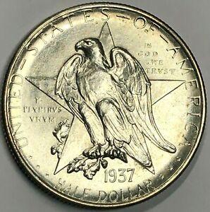 1937-D Silver TEXAS Commemorative Half Dollar 50c ~ Lustrous Uncirculated