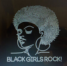 Black Girls Rock Natural Afro Rhinestones Bling Fitted Shirt *all sizes*