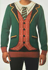 Ugly Holiday Christmas Sweater Ugly Suit and Tie NEW L Fast Ship